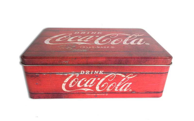 Μεταλλικό Vintage Κουτί αποθήκευσης 20x13x6.7cm με Θέμα Coca-Cola, 613-400028 -  κουζίνα   κουτιά κουζίνας και ψωμιέρες