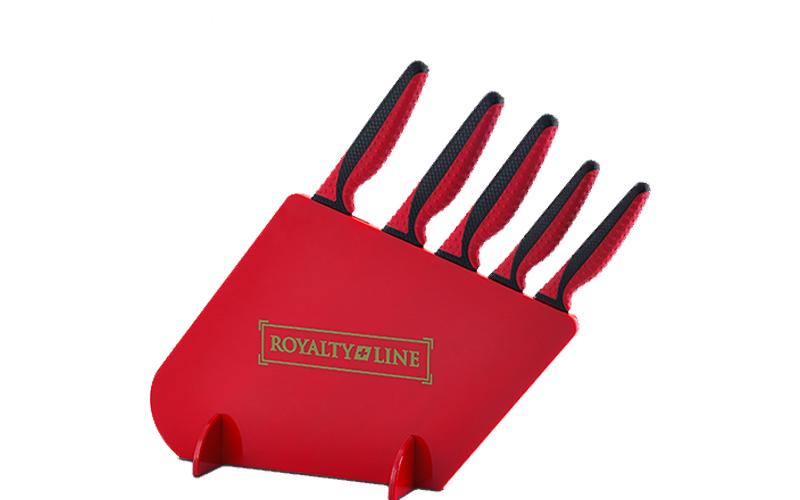 Royalty Line RL-MGS5R Σετ Μαχαίρια 5 τμχ από Ανοξείδωτο Ατσάλι με Αντικολλητική  αξεσουάρ και εργαλεία κουζίνας   μαχαίρια κουζίνας