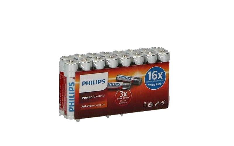 Philips Αλκαλικές Μπαταρίες 16τεμ. 2100mah ΑΑA LR03P16F/10 - Philips τεχνολογία   μπαταρίες
