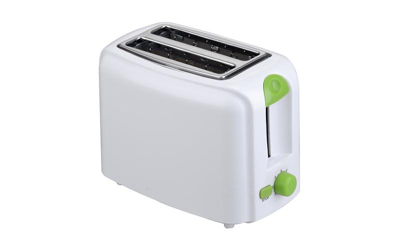 Φρυγανιέρα 760W με 2 θέσεις ψησίματος σε Λευκό χρώμα και Λαχανί λεπτομέρειες, Mu μικροσυσκευές   φρυγανιέρες
