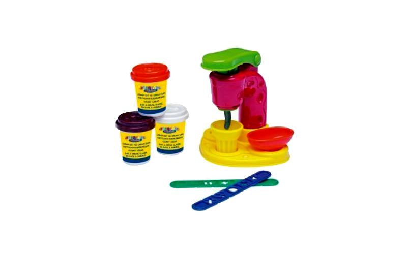 Σετ Παιχνιδιού Δημιουργίας Παγωτού με 3 κυπελάκια πολύχρωμες πλαστελίνες για Παι παιχνίδια   άλλα παιχνίδια