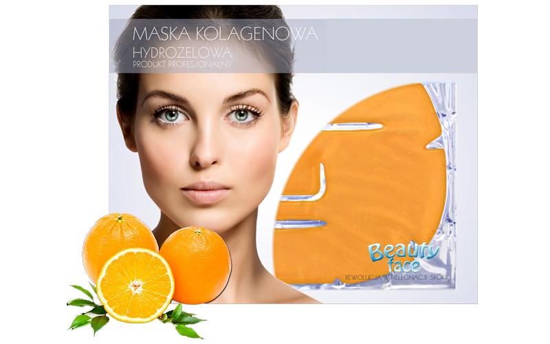 Μάσκα Προσώπου με Κολλαγόνο, Εκχύλισμα Πορτοκαλιού και Βιταμίνη C για Αναδόμηση  υγεία  και  ομορφιά   περιποίηση προσώπου