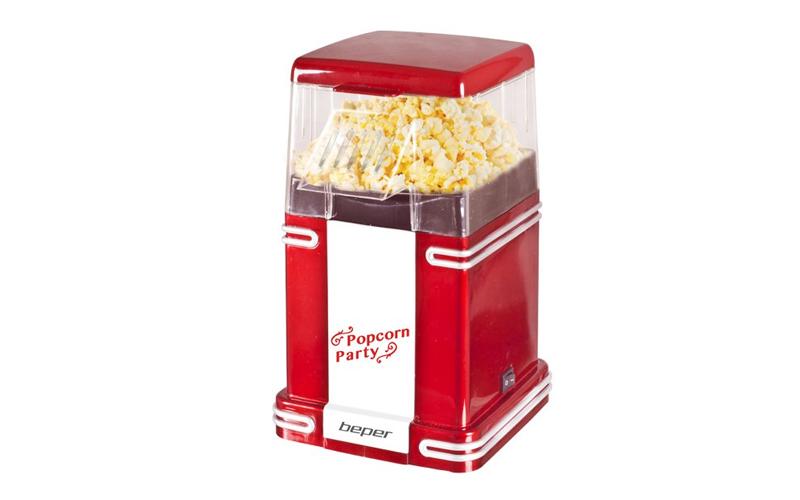 Beper 90.590 Retro Μηχανή ποπ-κορν 1200W - Pop Corn Maker σε Κόκκινο χρώμα - Bep μικροσυσκευές   συσκευές για ποπ κορν  pop corn