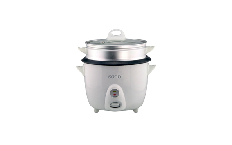 Ατμομάγειρας – Παρασκευαστής ρυζιού 1.5L 500W με Εξωτερικό Καλάθι Αλουμινίου και Γυάλινο Καπάκι, Sogo ARR-SS-10065 – SOGO