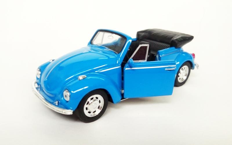 Μεταλλικό Αυτοκίνητο Μινιατούρα VW Beetle Convertible σε κλίμακα 1:38 Official L παιχνίδια  παιδί  και  βρέφος   οικολογικά παιχνίδια