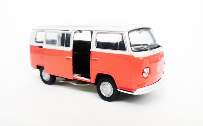 Μεταλλικό Αυτοκίνητο Μινιατούρα VW T1 Bus του 1972 σε κλίμακα 1:38 Official Lice παιχνίδια   μινιατούρες