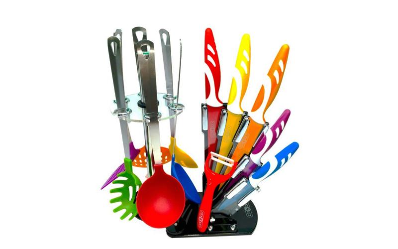 Σετ Μαχαίρια Κουζίνας με Αντικολλητικά Μαχαίρια, Κουτάλες & Σπάτουλες και με Κεραμική επίστρωση Cenocco CC-KT12 - Cenocco