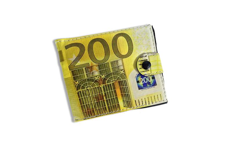Πρωτότυπο Πορτοφόλι Διακοσμημένο με το Χαρτονόμισμα των 200 Ευρώ - OEM ρούχα  παπούτσια  και  αξεσουάρ   τσάντες  πορτοφόλια  βαλίτσες ταξιδίου