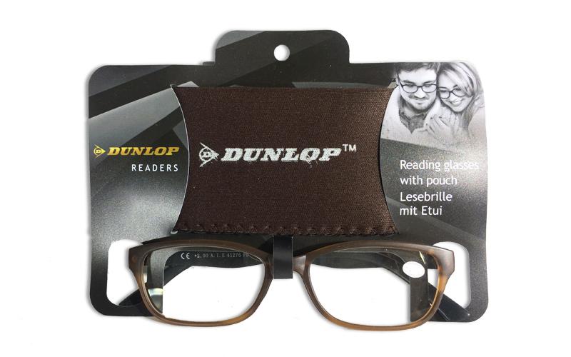 Γυαλιά Πρεσβυωπίας Διαβάσματος Καφέ Ματ με ασορτί θήκη με βαθμό +1.00, Dunlop 41 υγεία  και  ομορφιά   οπτικά γυαλιά