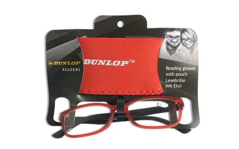 Γυαλιά Πρεσβυωπίας Διαβάσματος Κόκκινα Ματ με ασορτί θήκη με βαθμό +1.00, Dunlop υγεία  και  ομορφιά   οπτικά γυαλιά