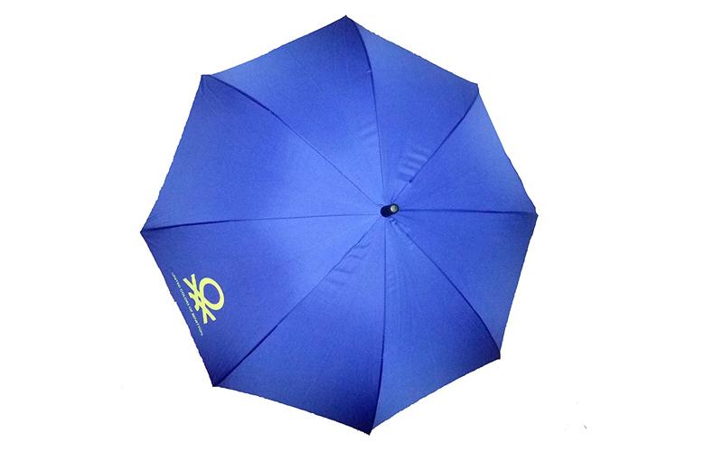 Benetton Αυτόματη Ομπρέλα Βροχής 84cm μήκους με μπαστούνι σε Μπλε Ηλεκτρίκ χρώμα αξεσούαρ   ομπρέλες