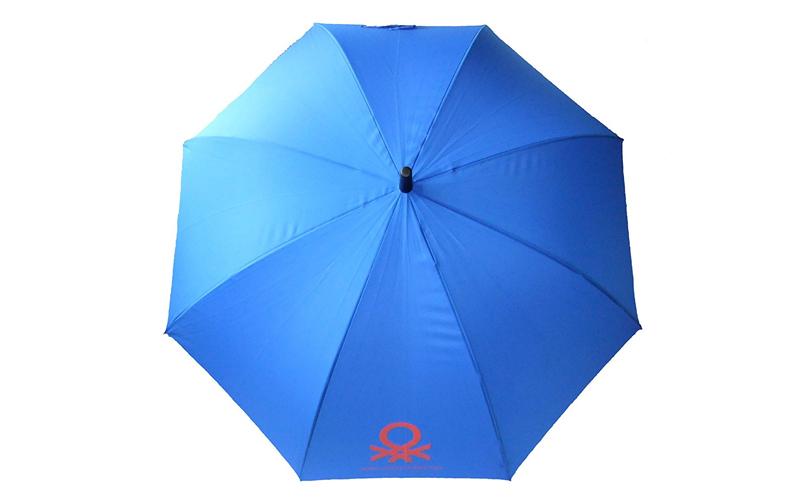 Benetton Αυτόματη Ομπρέλα Βροχής 84cm μήκους με μπαστούνι σε Μπλε χρώμα - United αξεσούαρ   ομπρέλες