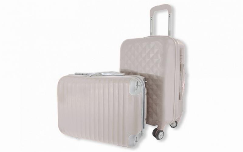 Σετ Βαλίτσες Καμπίνας 2 τεμαχίων με τηλεσκοπικό χερούλι, 10495 ΛΕΥΚΟ - OEM ρούχα  παπούτσια  και  αξεσουάρ   τσάντες  πορτοφόλια  βαλίτσες ταξιδίου