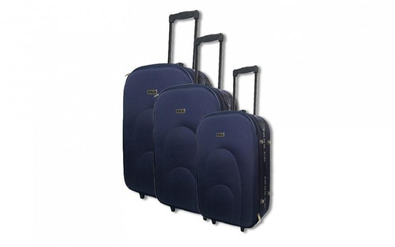 Σετ βαλίτσες Ταξιδιού με τηλεσκοπικό χερούλι (3 τεμάχια), Muhler X-01 ΜΠΛΕ - Muh ρούχα  παπούτσια  και  αξεσουάρ   τσάντες  πορτοφόλια  βαλίτσες ταξιδίου