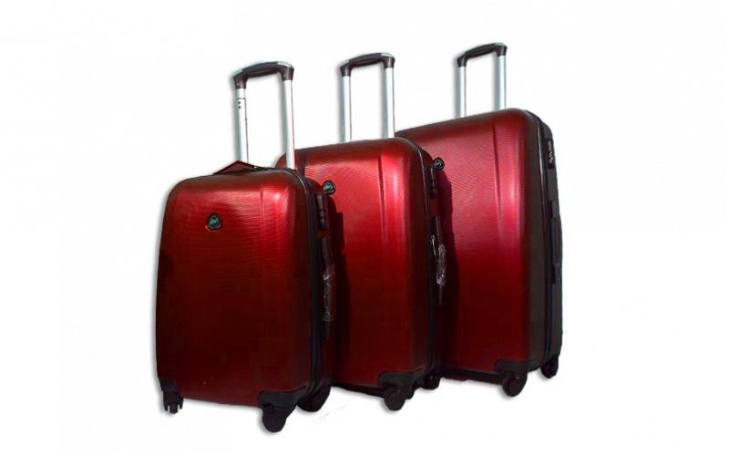 Σετ βαλίτσες Ταξιδιού 3τμχ. από ελαφρύ σκληρό υλικό με τηλεσκοπικό χερούλι, ροδά ρούχα  παπούτσια  και  αξεσουάρ   τσάντες  πορτοφόλια  βαλίτσες ταξιδίου