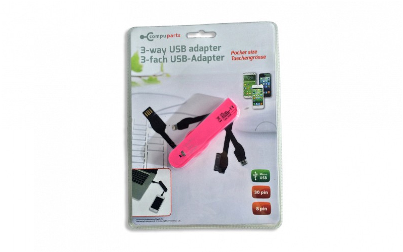 USB Αντάπτορας 3 way για Smartphones iPhone 4/5/6, Micro USB και Samsung σε μέγε gadgets   gadgets η υ