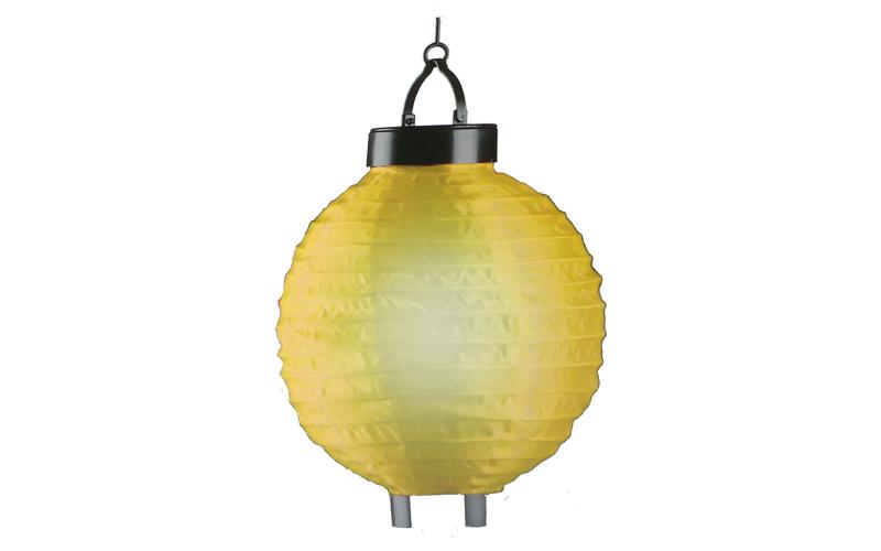 Outdoor Lights Ηλιακό Solar Φαναράκι Κήπου Κρεμαστό LED 20cm διαμέτρου με Κάλυμμα από Νάιλον Χρώμα Κίτρινο - Outdoor Lights