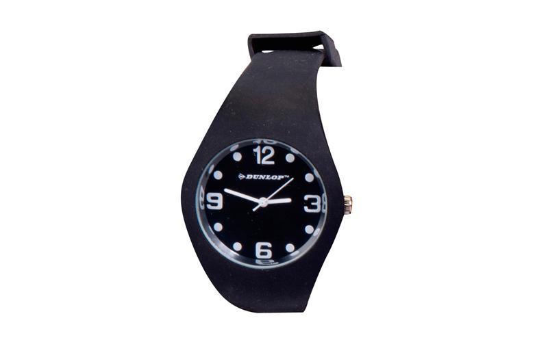 Dunlop Μοδάτο Αναλογικό Ρολόι χειρός Fashion Trendy με λουράκι σιλικόνης Μαύρο - ρούχα  παπούτσια  και  αξεσουάρ