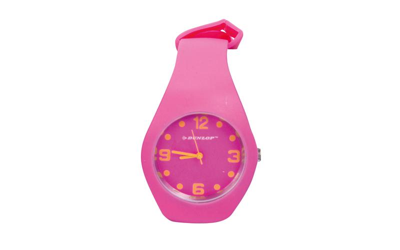 Dunlop Μοδάτο Αναλογικό Ρολόι χειρός Fashion Trendy με λουράκι σιλικόνης Ροζ - D ρούχα  παπούτσια  και  αξεσουάρ