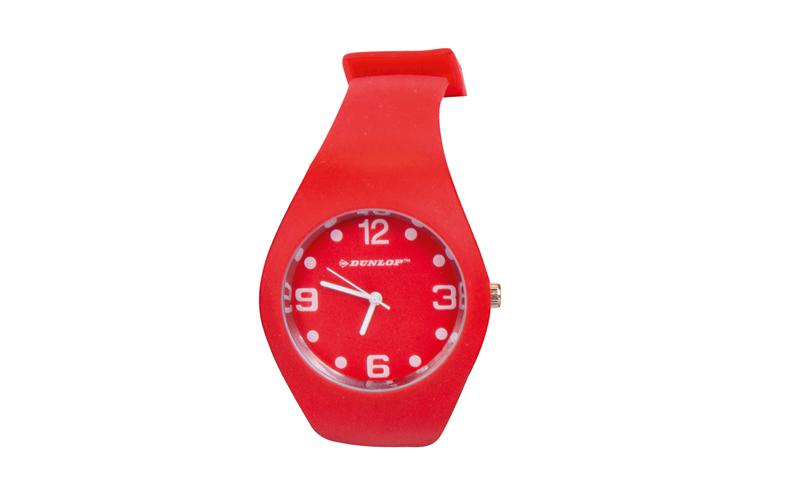 Dunlop Μοδάτο Αναλογικό Ρολόι χειρός Fashion Trendy με λουράκι σιλικόνης Κόκκινο ρούχα  παπούτσια  και  αξεσουάρ