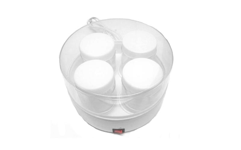 Συσκευή Παρασκευής Γιαουρτιού - Γιαουρτομηχανή 15W με 4 βαζάκι των 200ml με καπά για την κουζίνα   μικροσυσκευές