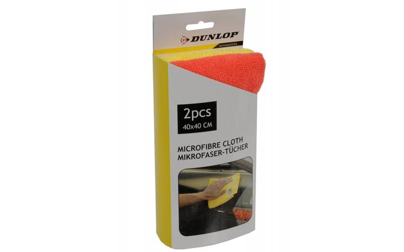 Dunlop Πανί Καθαρισμού Microfibra Σετ 2 τμχ. για το Αυτοκίνητο από Μικροίνες για αξεσουάρ αυτ του   καθαριστικά αυτ του