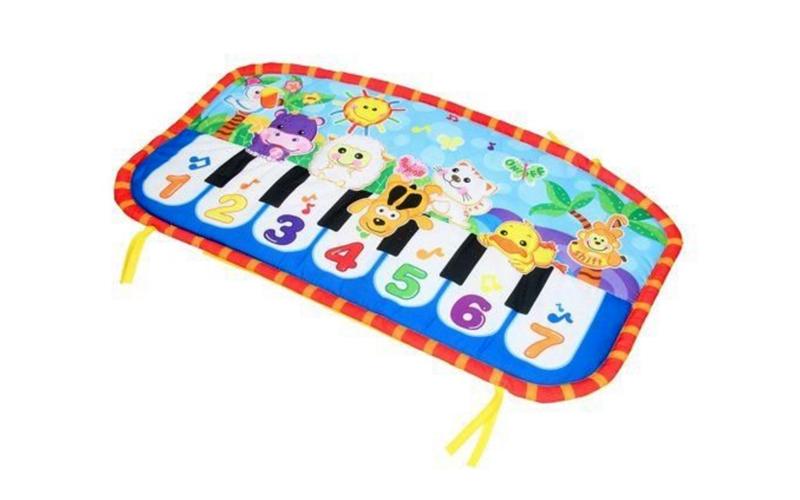 Eddy Toys Παιδικό Χαλάκι Παιχνιδιού Πιάνο με ζωάκια και μουσική 70x40cm για Μωρά παιχνίδια  παιδί  και  βρέφος   για μωρά