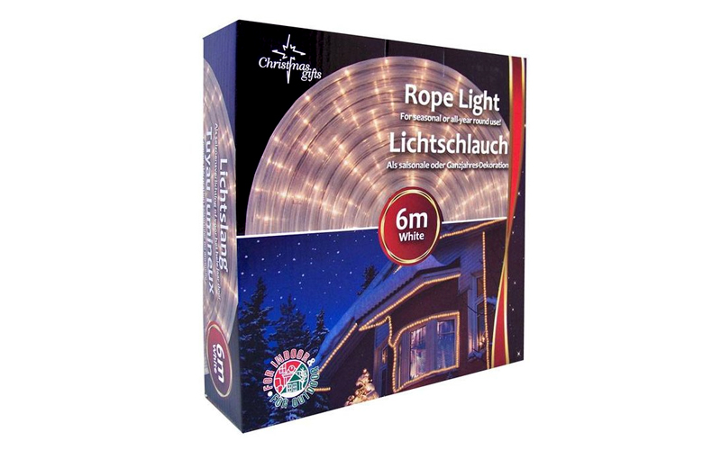 Christmas Gifts 49172 Φωτοσωλήνας Στρογγυλός 24 LED ανά 1m 230V 64W με Λευκό χρώ κήπος και βεράντα   εξωτερική διακόσμηση και φωτιστικά