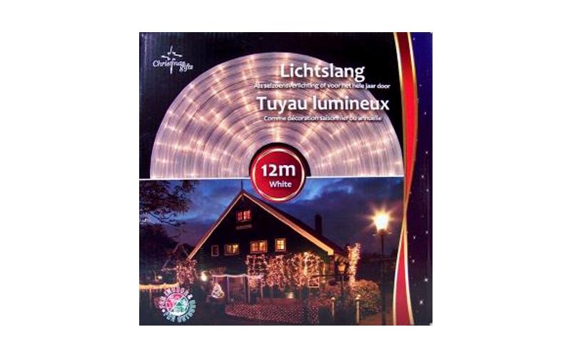 Christmas Gifts 49174 Φωτοσωλήνας Στρογγυλός 24 LED ανά 1m 230V με Λευκό χρώμα κ κήπος και βεράντα   εξωτερική διακόσμηση