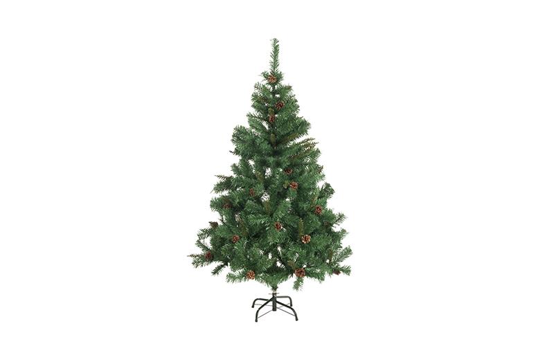 Τεχνητό Χριστουγεννιάτικο Δέντρο τύπου Έλατο με Κουκουνάρια ύψους 150cm με Μεταλ εποχιακά   χριστουγεννιάτικα είδη