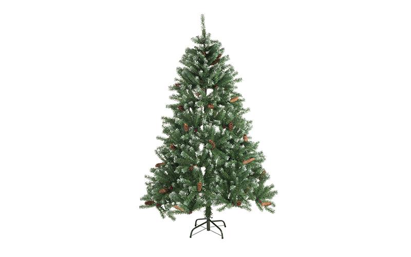 Τεχνητό Χριστουγεννιάτικο Δέντρο τύπου Έλατο με Κουκουνάρια ύψους 210cm με Μεταλ εποχιακά   χριστουγεννιάτικα