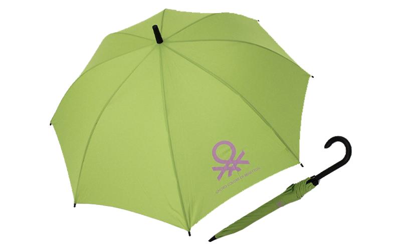 Benetton 55009 Αυτόματη Ομπρέλα Βροχής Long AC ECO 83cm Χρώμα Πράσινο - United C αξεσούαρ   ομπρέλες