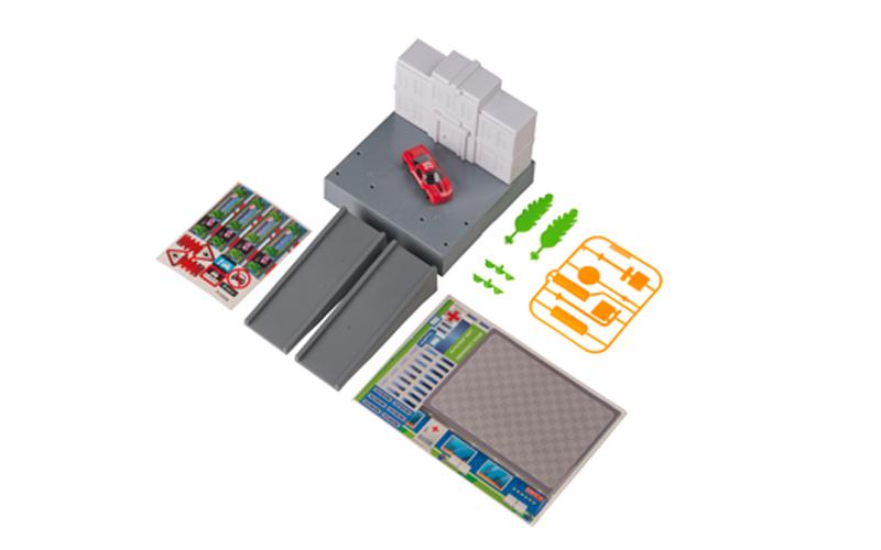 Gearbox 56456 Σετ Παιχνιδιού Γκαράζ αυτοκινήτων σε Νοσοκομείο με 1 Αυτοκίνητο 14 παιχνίδια   τηλεκατευθυνόμενα  πίστες και αυτοκινητάκια