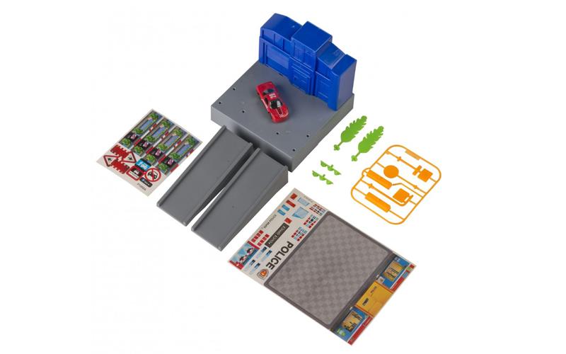 Gearbox 56456 Σετ Παιχνιδιού Γκαράζ αυτοκινήτων σε Αστυνομία με 1 Αυτοκίνητο 14  παιχνίδια   τηλεκατευθυνόμενα  πίστες και αυτοκινητάκια