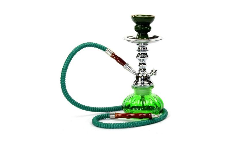 Μίνι Ναργιλές 23εκ - Mini Portable Hookah! Χρώμα Πράσινο - Hookah υγεία  και  ομορφιά   anti smoking