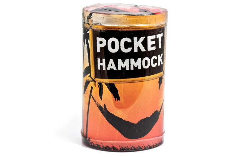 Αιώρα Τσέπης 270 cm, για camping ή τον κήπο σας - Pocket Hammock! Χρώμα Κόκκινο - OEM