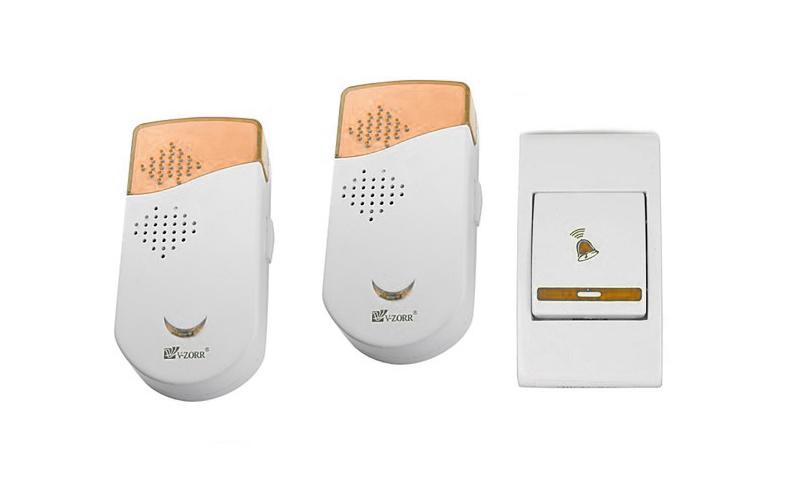Διπλό Ασύρματο Κουδούνι Πόρτας Μακράς Εμβέλειας 150μ με 30 Μελωδίες & Φωτισμό Luckarm-760! Πορτοκαλί – OEM