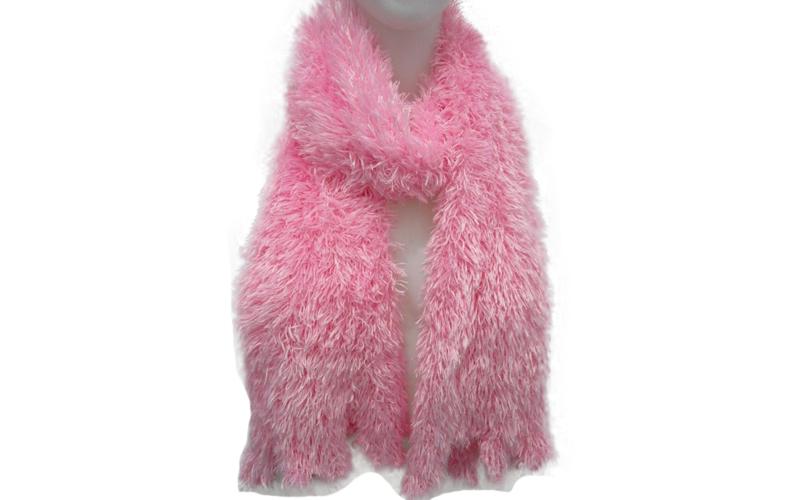 Μαγικό κασκόλ Χρώμα Ροζ - TV γυναίκα   ένδυση