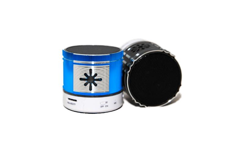 Mini Φορητό Bluetooth Ηχείο Music USB/SD/AUX FM σε μπλέ χρώμα, BO-speaker - OEM τεχνολογία   ηχεία φορητών συσκευών
