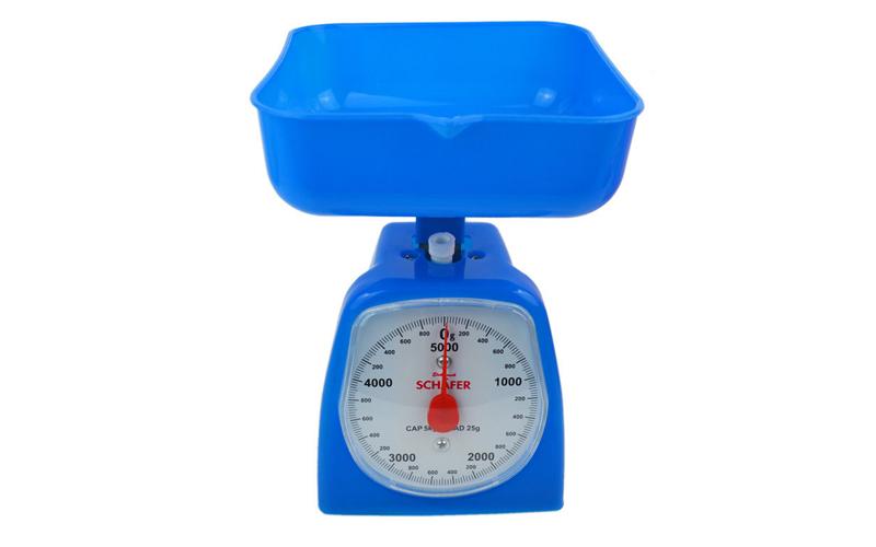 Αναλογική ζυγαριά Κουζίνας έως 5kg Μπλε - Schafer οργάνωση κουζίνας   ζυγαριές κουζίνας