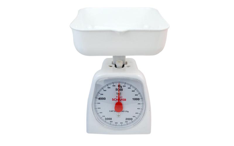 Αναλογική ζυγαριά Κουζίνας έως 5kg ΛΕΥΚΟ - Schafer οργάνωση κουζίνας   ζυγαριές κουζίνας