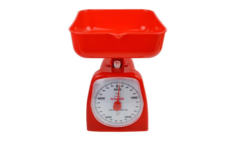 Αναλογική ζυγαριά Κουζίνας έως 5kg Κόκκινο - Schafer οργάνωση κουζίνας   ζυγαριές κουζίνας