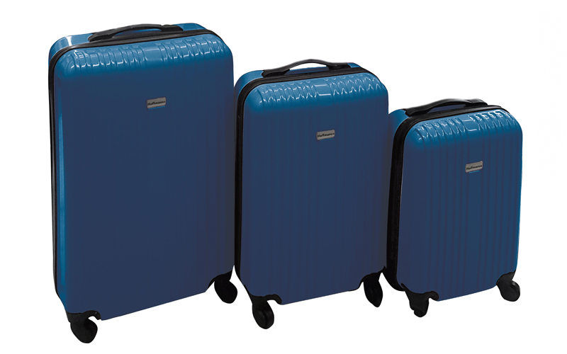 Hoffmans Βαλίτσες Σετ 3τμχ από ελαφρύ σκληρό υλικό με ροδάκια και τηλεσκοπικό χε ρούχα  παπούτσια  και  αξεσουάρ   τσάντες  πορτοφόλια  βαλίτσες ταξιδίου