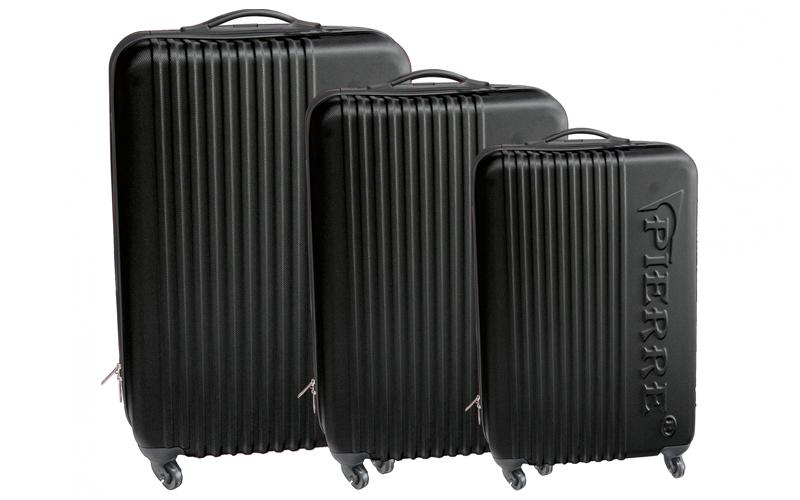 Pierre Βαλίτσες Σετ 3τμχ από ελαφρύ σκληρό υλικό με ροδάκια και τηλεσκοπικό χερο ρούχα  παπούτσια  και  αξεσουάρ   τσάντες  πορτοφόλια  βαλίτσες ταξιδίου