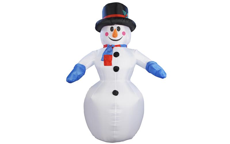 Christmas Gifts Διακοσμητικός Χιονάνθρωπος Φουσκωτός 240cm με LED εσωτερικό φωτι εποχιακά   χριστουγεννιάτικα