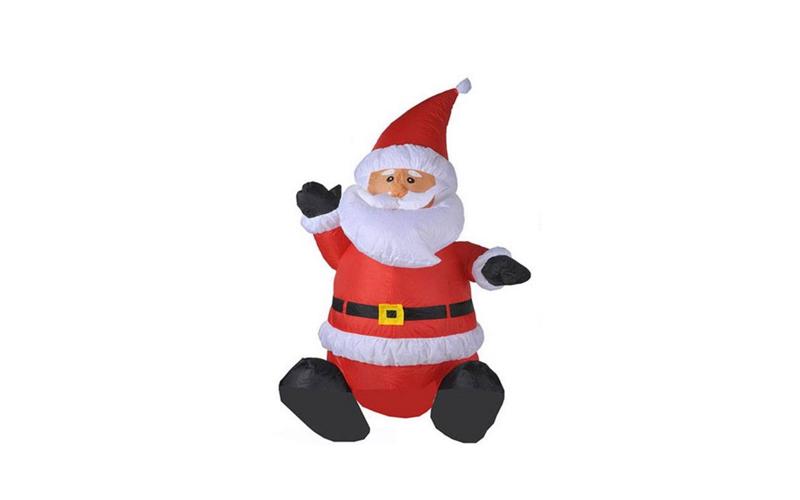 Christmas Gifts 78519 Διακοσμητικός Άγιος Βασίλης Φουσκωτός 120cm με LED εσωτερι εποχιακά   χριστουγεννιάτικα είδη