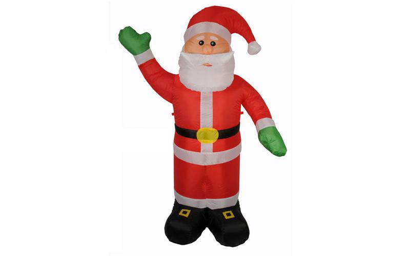 Christmas Gifts Διακοσμητικός Άγιος Βασίλης Γίγας 240cm ύψος Φουσκωτός με LED εσ εποχιακά   χριστουγεννιάτικα