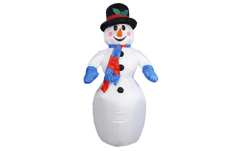 Christmas Gifts 78522 Διακοσμητικός Χιονάνθρωπος Φουσκωτός 180cm με LED εσωτερικ εποχιακά   χριστουγεννιάτικα είδη