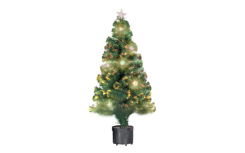 Φωτιζόμενο Χριστουγεννιάτικο Δέντρο τύπου Έλατο με Οπτικές ίνες-Fiber Optic και  εποχιακά   χριστουγεννιάτικα είδη