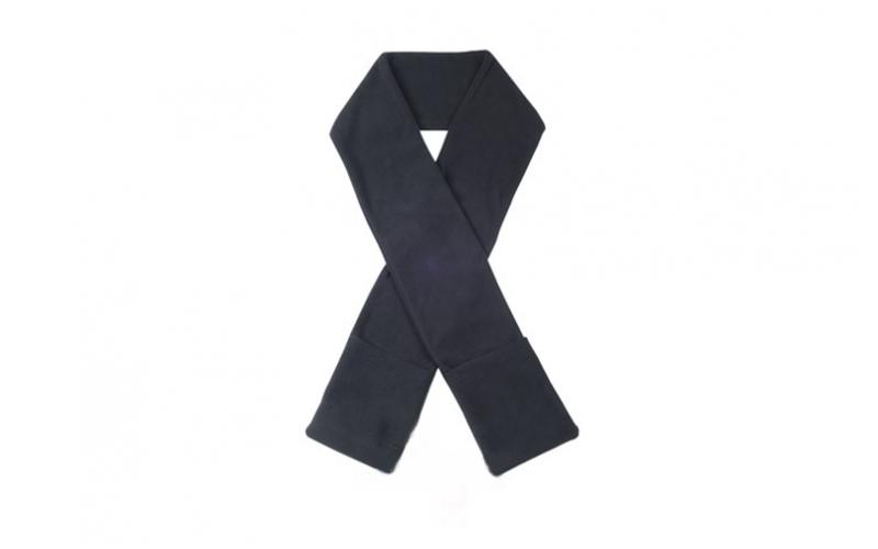 Θερμαινόμενο κασκόλ με τσέπες σε 4 χρώματα, Scarf heated Χρώμα Μαύρο - Cb αξεσούαρ   καπέλα  κασκόλ και φουλάρια